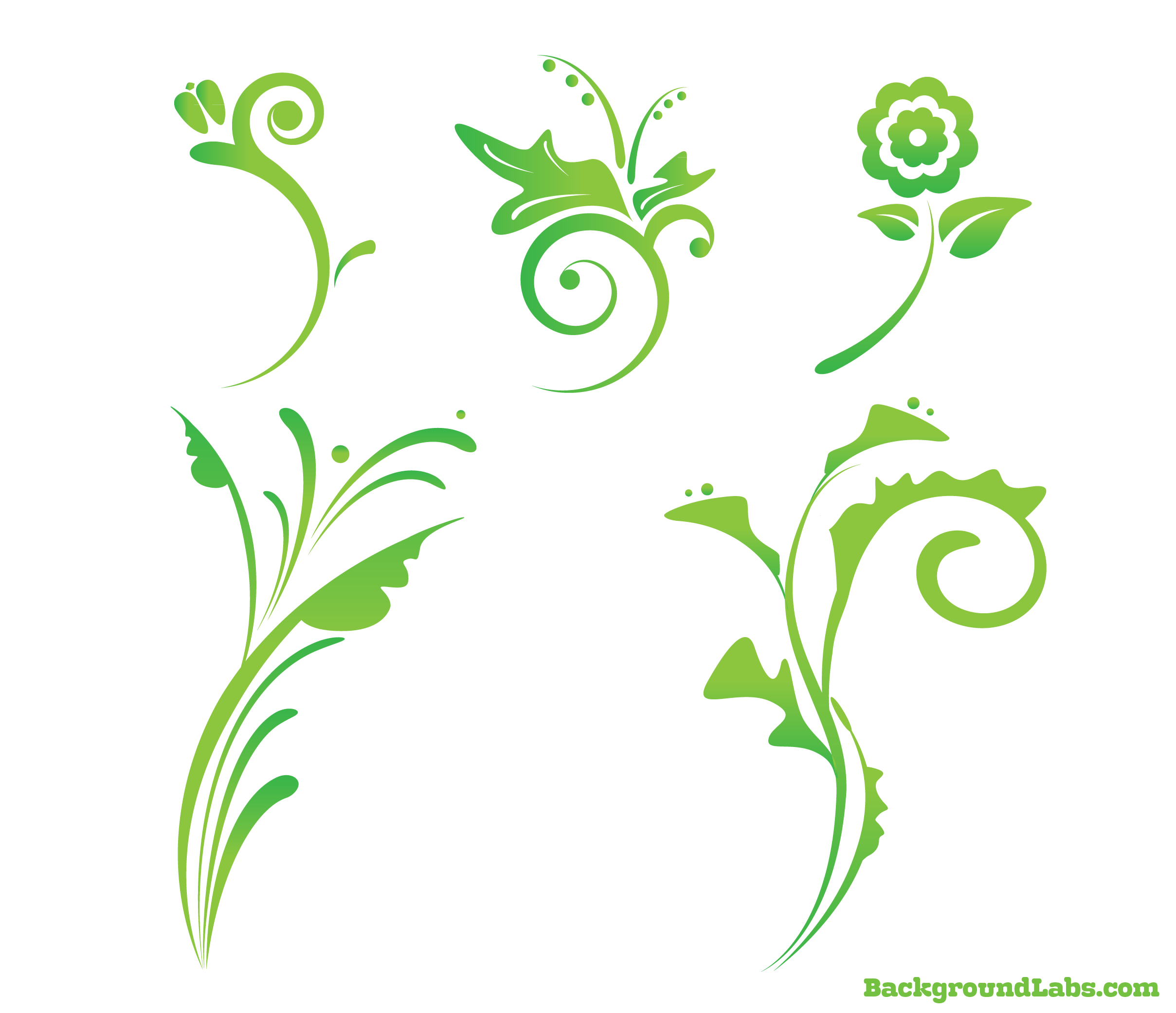 2417x2083 Free Floral Vector Set