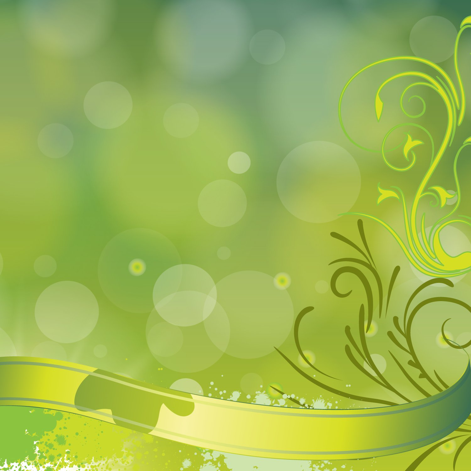 1500x1500 Green Floral Vector Background Vector Art Amp Graphics