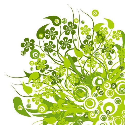 487x487 Green Floral Vector Graphic Free Vector Graphics All Free Web
