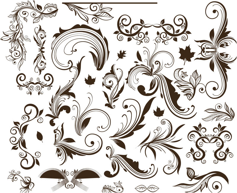 800x650 Ornate Floral Swirls Vector Vector Graphics Blog