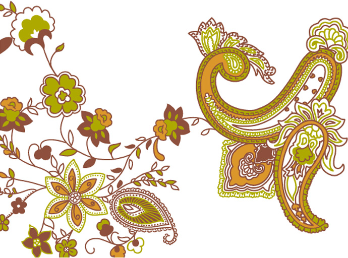 690x512 Paisley Floral Vector Graphic Bing Gallery