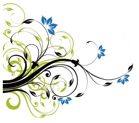 444x395 Swirl Floral Decoration Background Vector Graphic Ai,eps Format