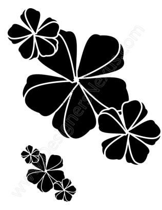 316x409 V11 Free Vector Graphic Flower Stencil Clip Art