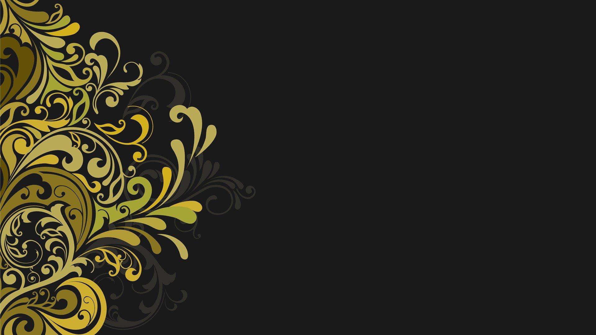 1920x1080 Vectors Floral Graphics Grey Background Wallpaper 1920x1080