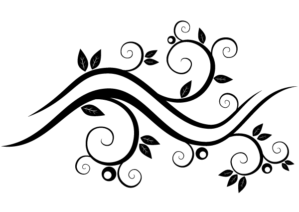600x425 Abstract Wavy Floral Vector Graphics 123freevectors