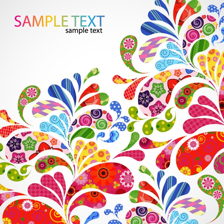 768x768 Colorful Floral Design Vector Graphic Free Vector Graphics All
