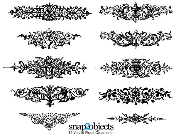 600x462 Floral Ornaments Vector Graphics Free Pack 123freevectors