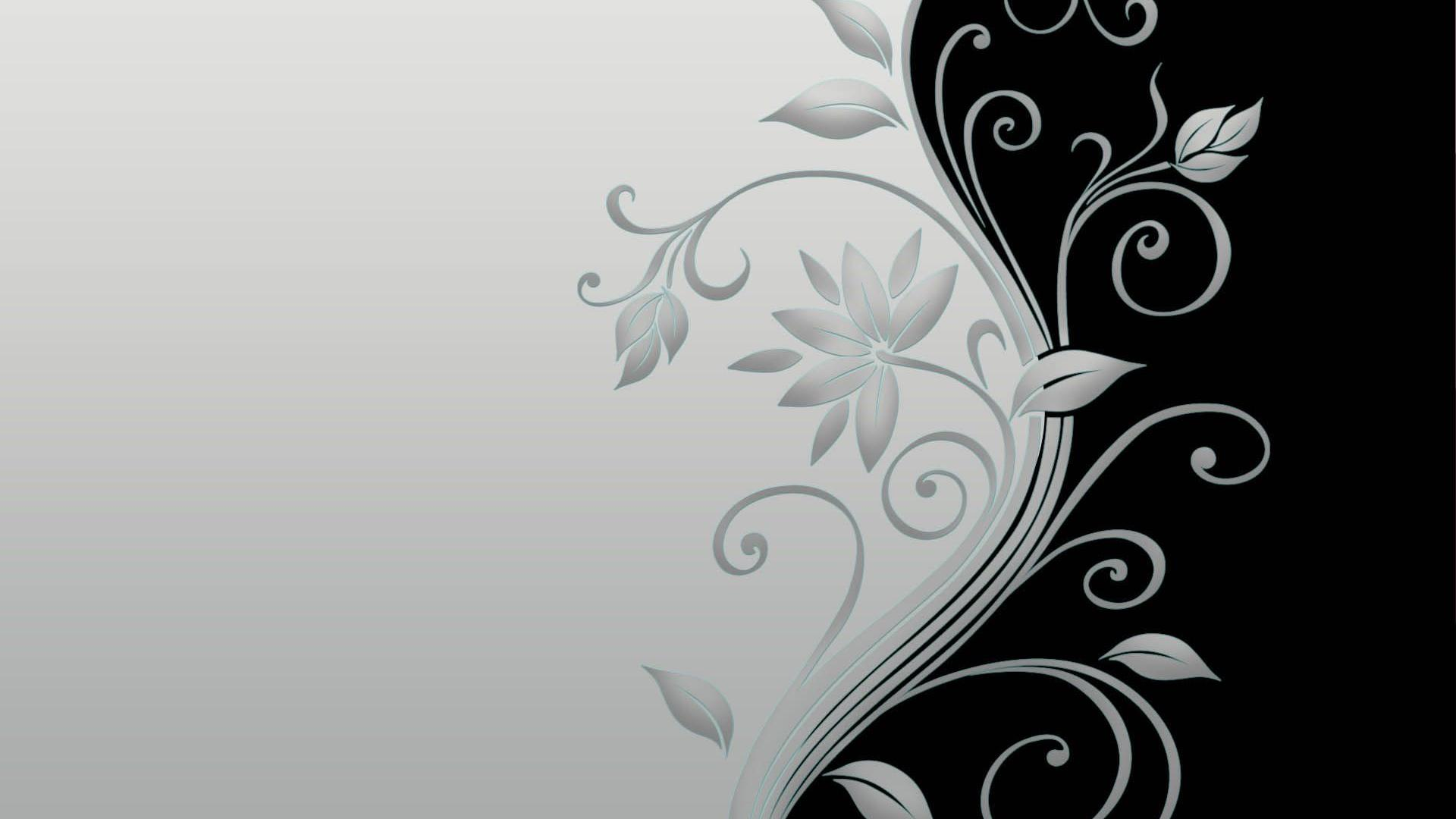 1920x1080 Black And White Floral Wallpaper 15 High Resolution Wallpaper