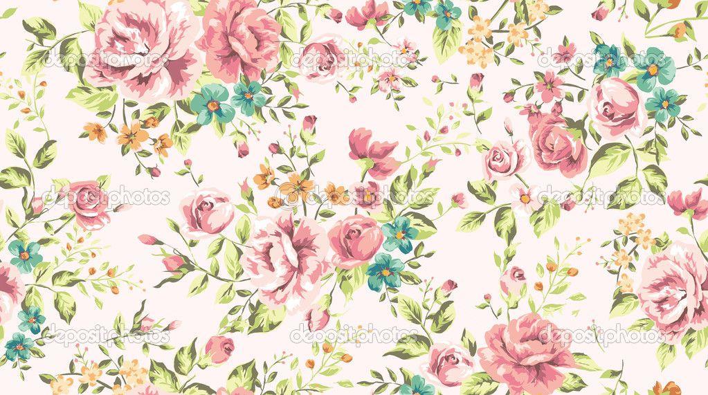 Fondos de flores vintage vector