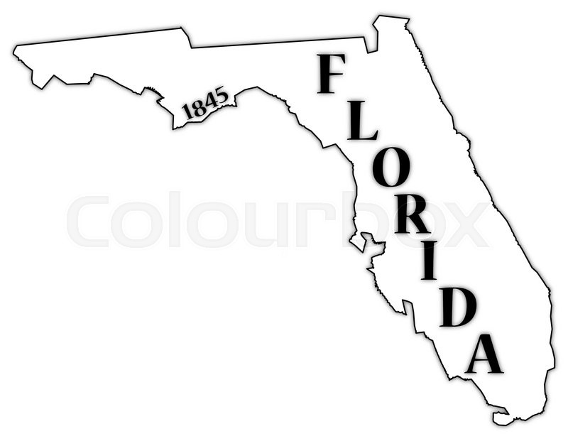 Florida Outline Vector