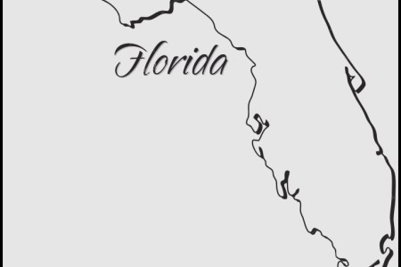 Florida Outline Vector At Getdrawings Com Free For Personal Use