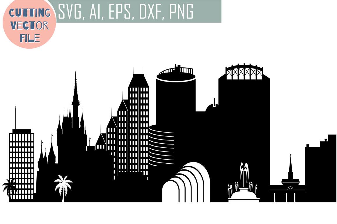 1158x772 Orlando Vector Florida Usa Skyline Svg, Png, Jpg, Eps, Ai, Dxf By