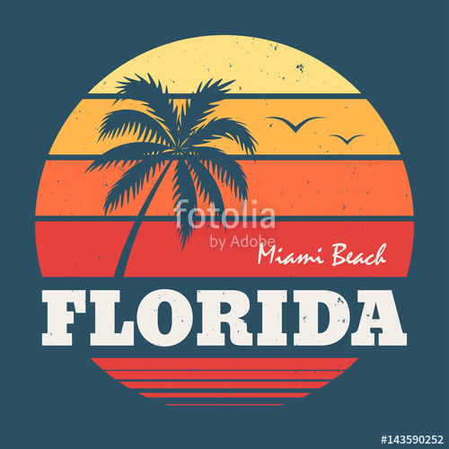 500x500 Florida Miami Beach Tee Print Stock Image And Royalty Free Vector