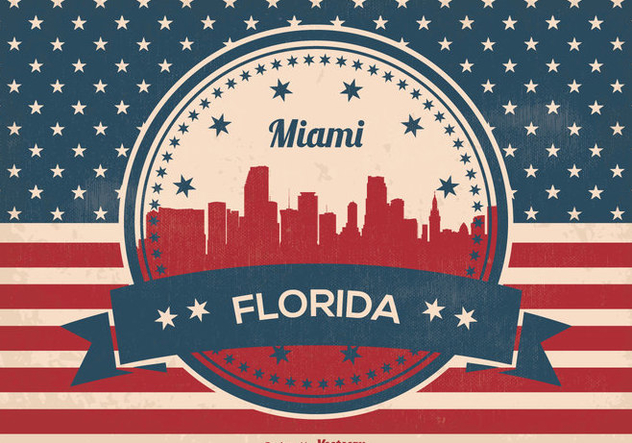632x443 Miami Florida Skyline Illustration Free Vector Download 357521
