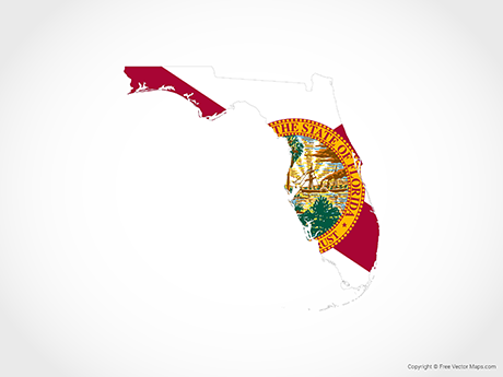 460x345 Vector Map Of Florida