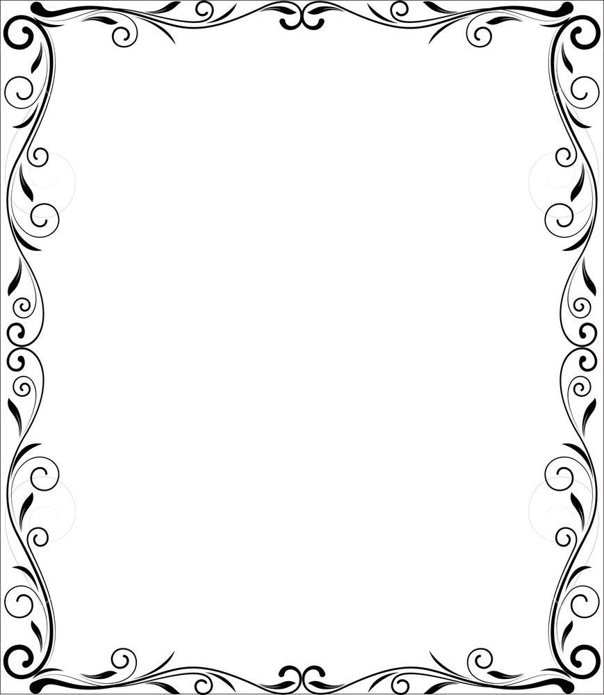 869x1000 Flourish Frame Vector Design Royalty Free Stock Image