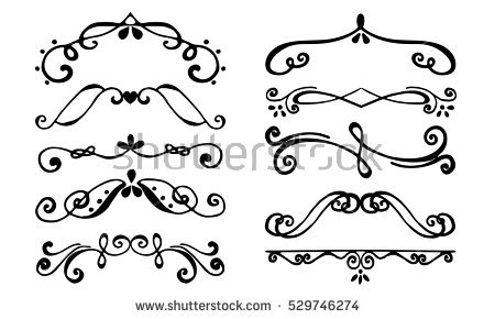 450x290 Flourish Borders Set Borders Flourish Decorative Border Vintage