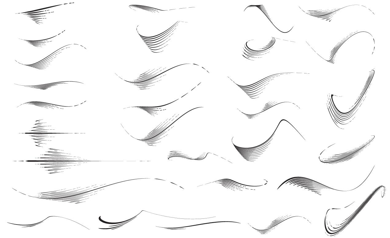 1270x778 Adobe Illustrator Flourishes Vector Pack