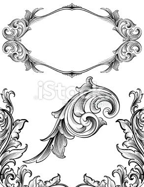 293x380 Designed By A Hand Engraver. Frame, Corners And Ornament. Change