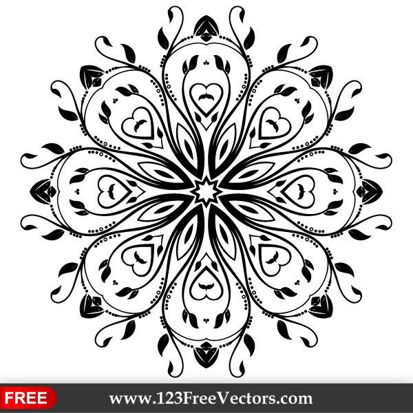600x600 Flourish Vector Ornament Design Download Free Vector Art Free