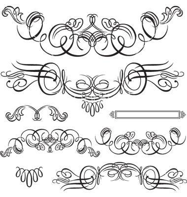 380x400 18 Flourish Vector Art Images