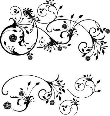 363x380 Gothic Flourish Royalty Free Stock Vector Art Illustration