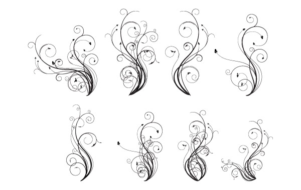 600x380 Free Flourishes Free Vector Flourishes Vector Free Vector Graphics