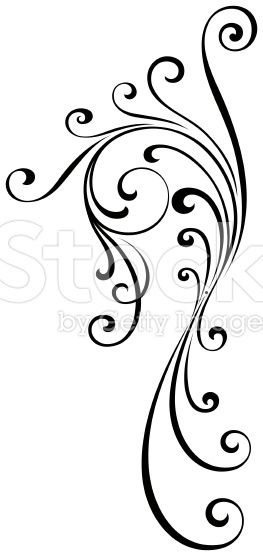263x556 An Elegant Flourish Design. Many Uses With This Style Of Flourish