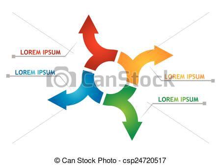 450x337 Flow Chart. Vector Flow Chart Template, With Arrows.