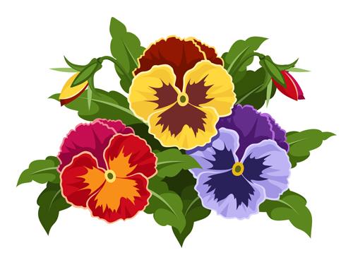 500x375 Elegant Flowers Bouquet Vector 05 Free Download