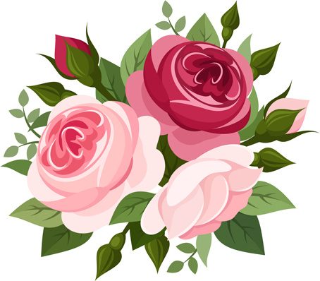 454x398 Elegant Flowers Bouquet Vector Free Vector In Encapsulated
