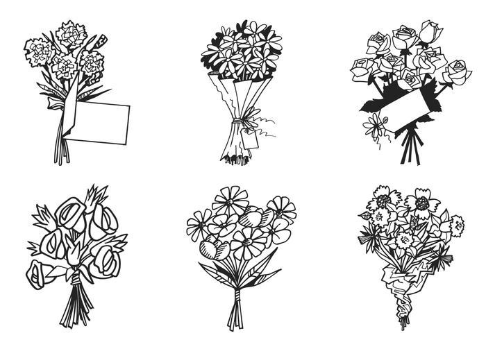 700x490 Flower Bouquet Vector Pack