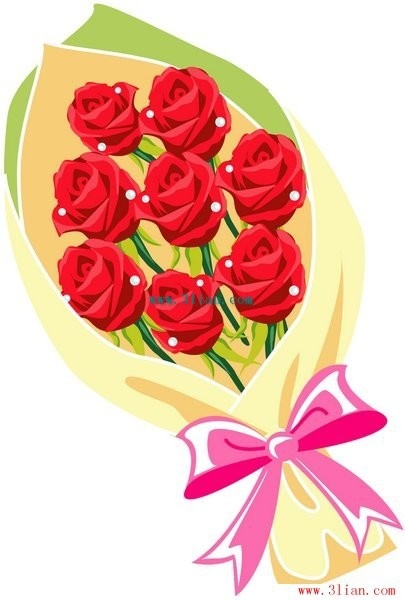 405x600 Flowers Bouquet Vector Free Vector In Adobe Illustrator Ai ( .ai
