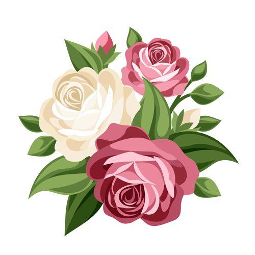 500x500 Elegant Flowers Bouquet Vector 02