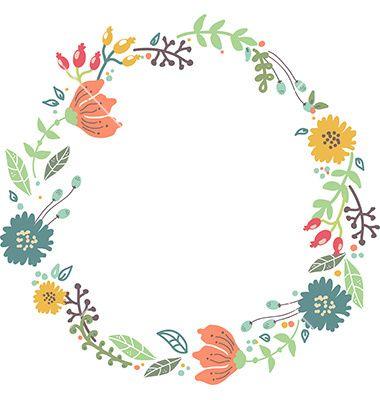 380x400 Floral Circle Arrow Clip Art Free Download