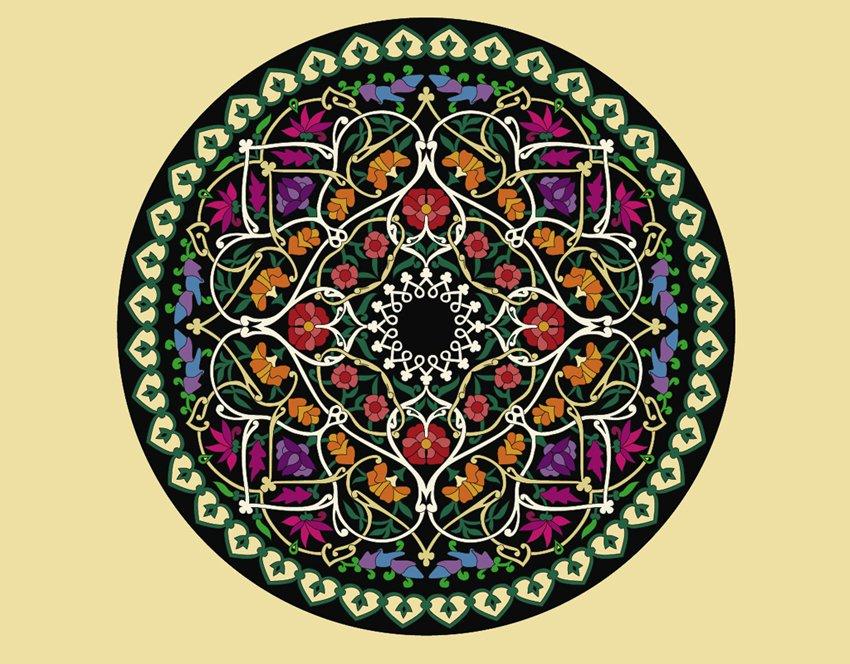 850x664 Flower Circle Vector Art Amp Graphics