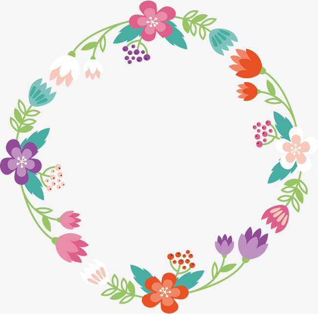 650x642 Cartoon Romantic Flower Rattan Border, Cartoon Vector, Flower