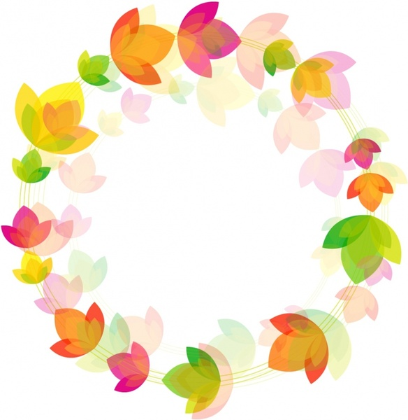 584x600 Flower Circle Background Free Vector In Adobe Illustrator Ai ( .ai