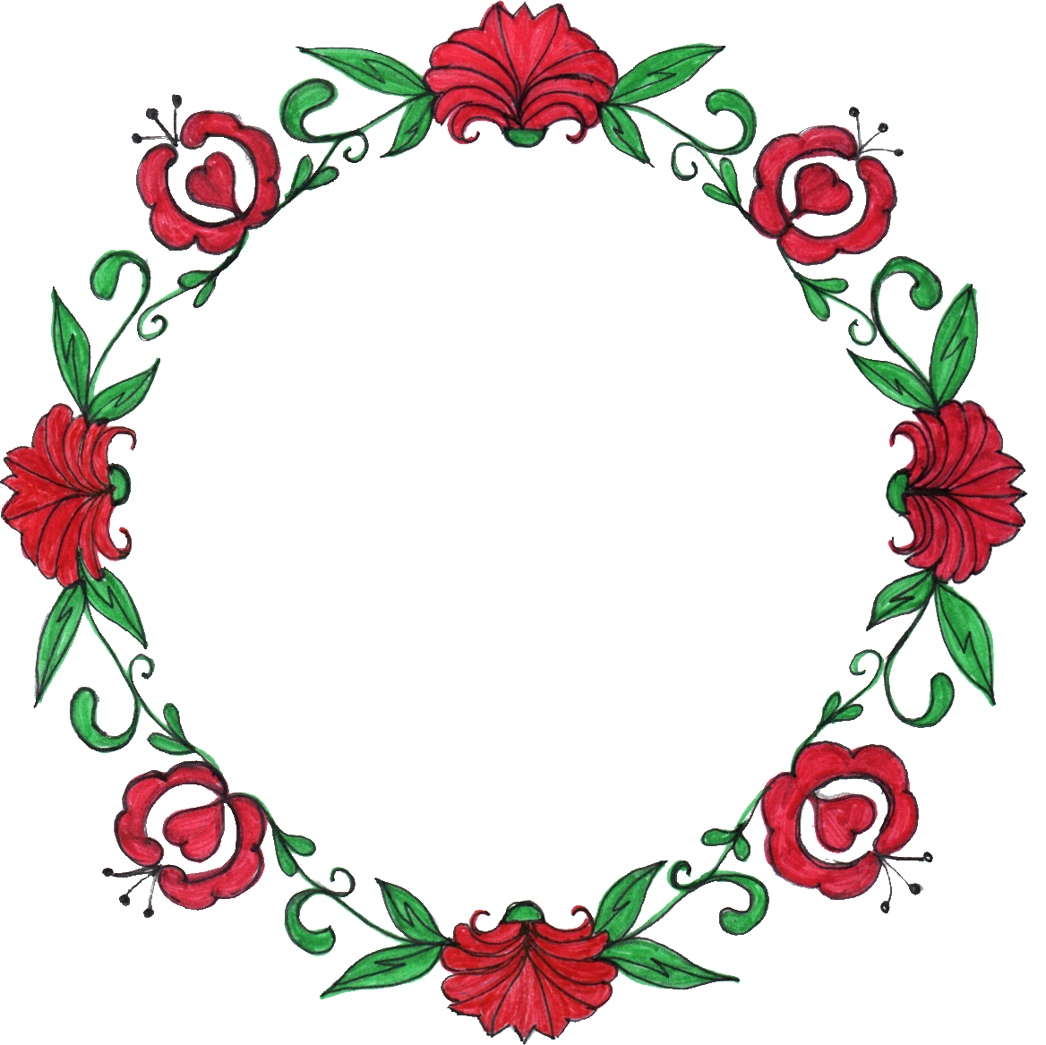 1168x1167 Flower Circle Image Black And White Download