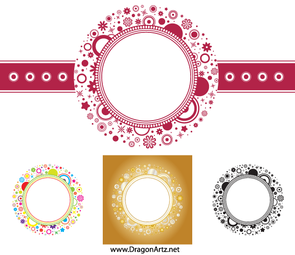 600x520 Free Flower Circle Frame Vector Free Psd Files, Vectors Amp Graphics