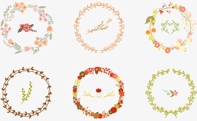650x400 Leaves Of Flowers, Leaves Circle, Flower Circle, Label Border Png