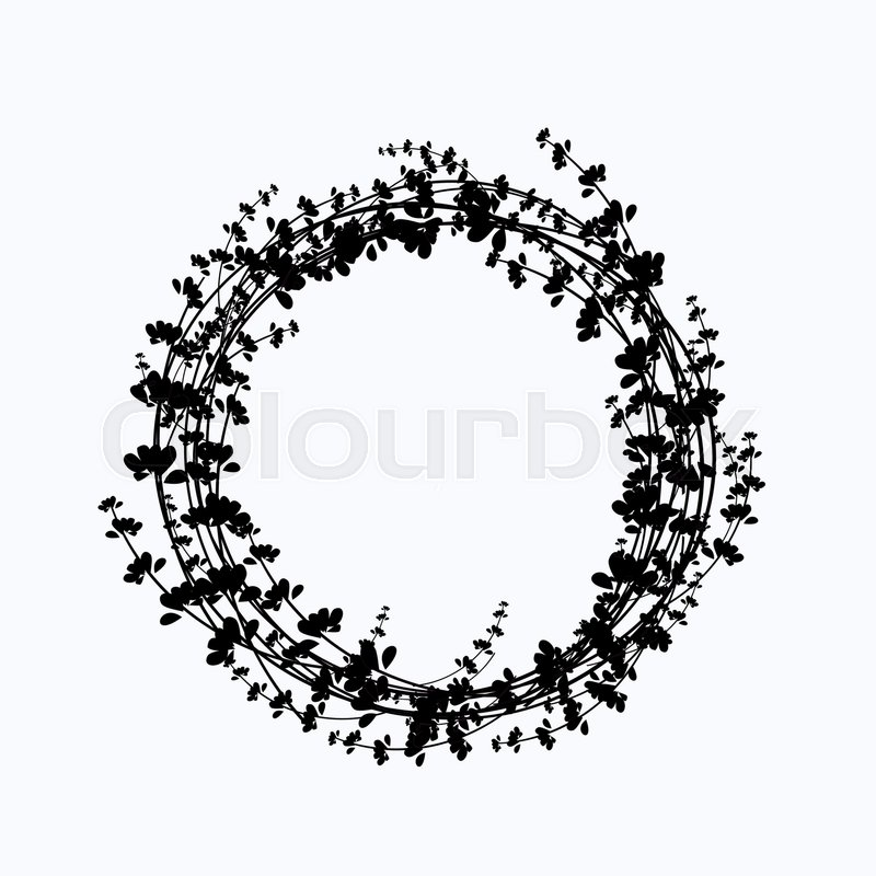 800x800 Vector Circle Frame Made Of Flowers. Spring And Summer Collection