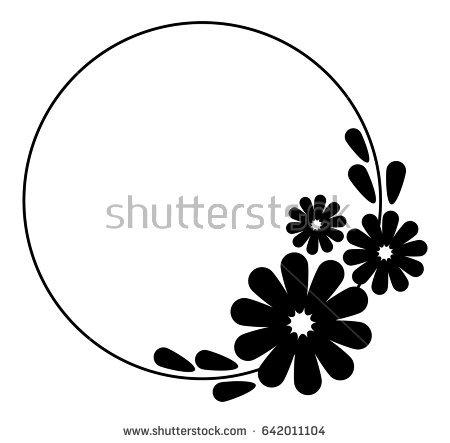 450x443 Circle Black And White Flower