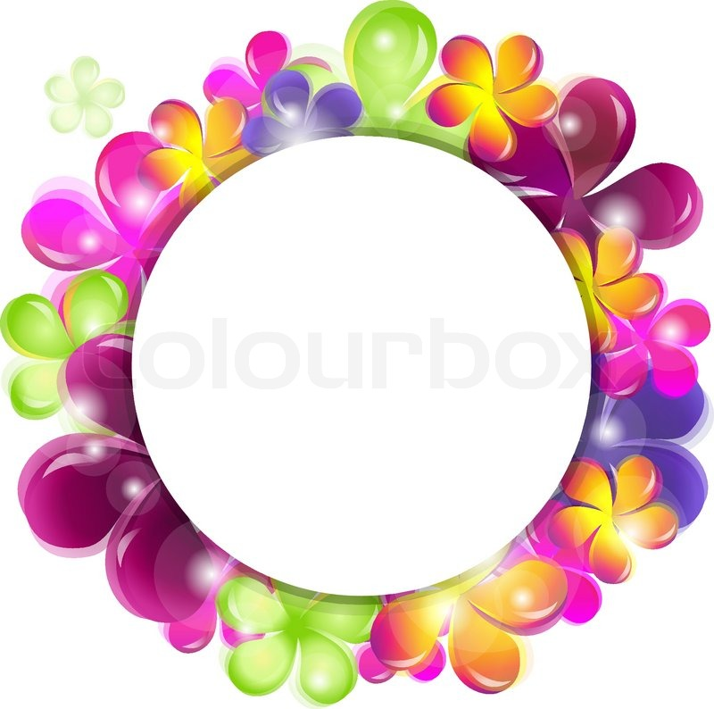 800x794 Circle With Abstract Flowers Stock Vector Colourbox