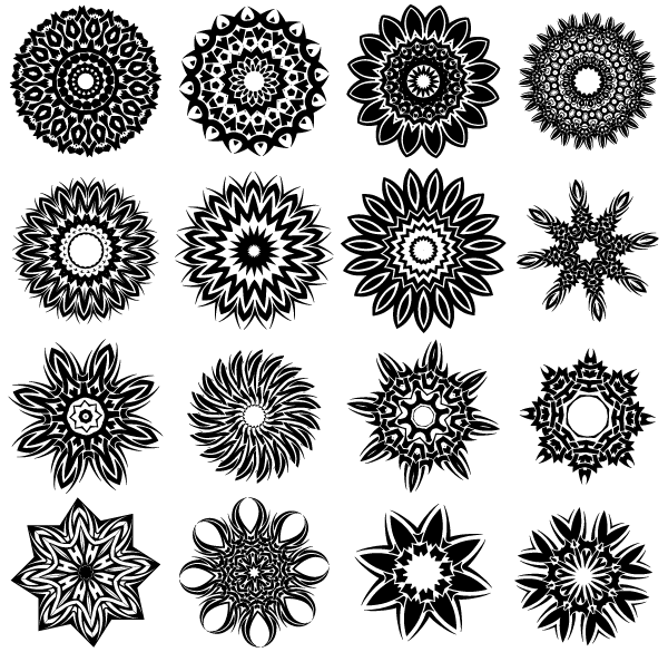 600x585 Free Tribal Flower Tattoo Designs Vector 123freevectors
