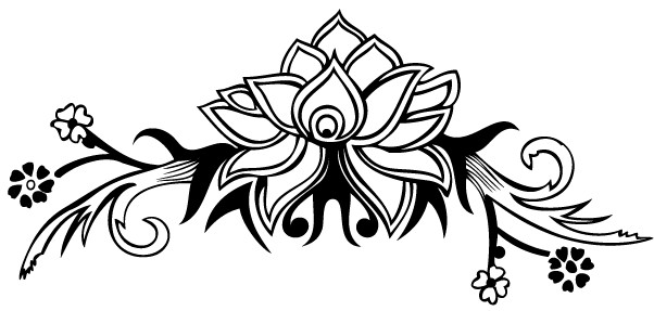 602x287 Hand Drawn Flower Design Vector Eps Amp Ai Format Free Vector