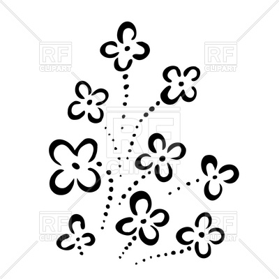 400x400 Simple Flowers Design Vector Image Vector Artwork Of Design
