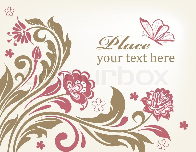 800x619 Vector Floral Background With Decorative Flowers For Design