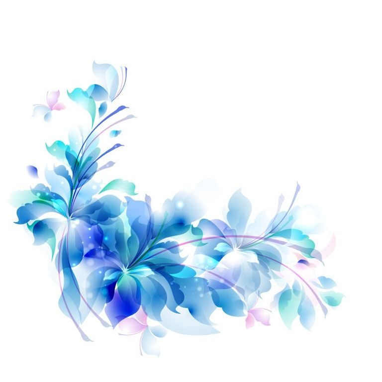 768x768 Decorative Backgrounds For Word Documents Blue Floral Design