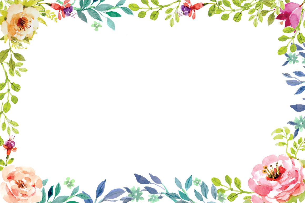 Flower Frame Vector At Getdrawings Free Download